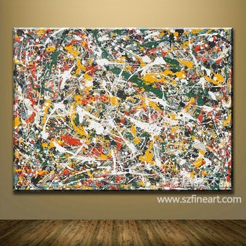 Handmade pollock art gallery oil painting