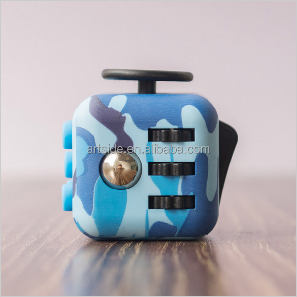 Anti Srtress Fidget Stress Relieve 2 Colors Silicone Buttons Camouflage Fidget Cube Toy High Quality