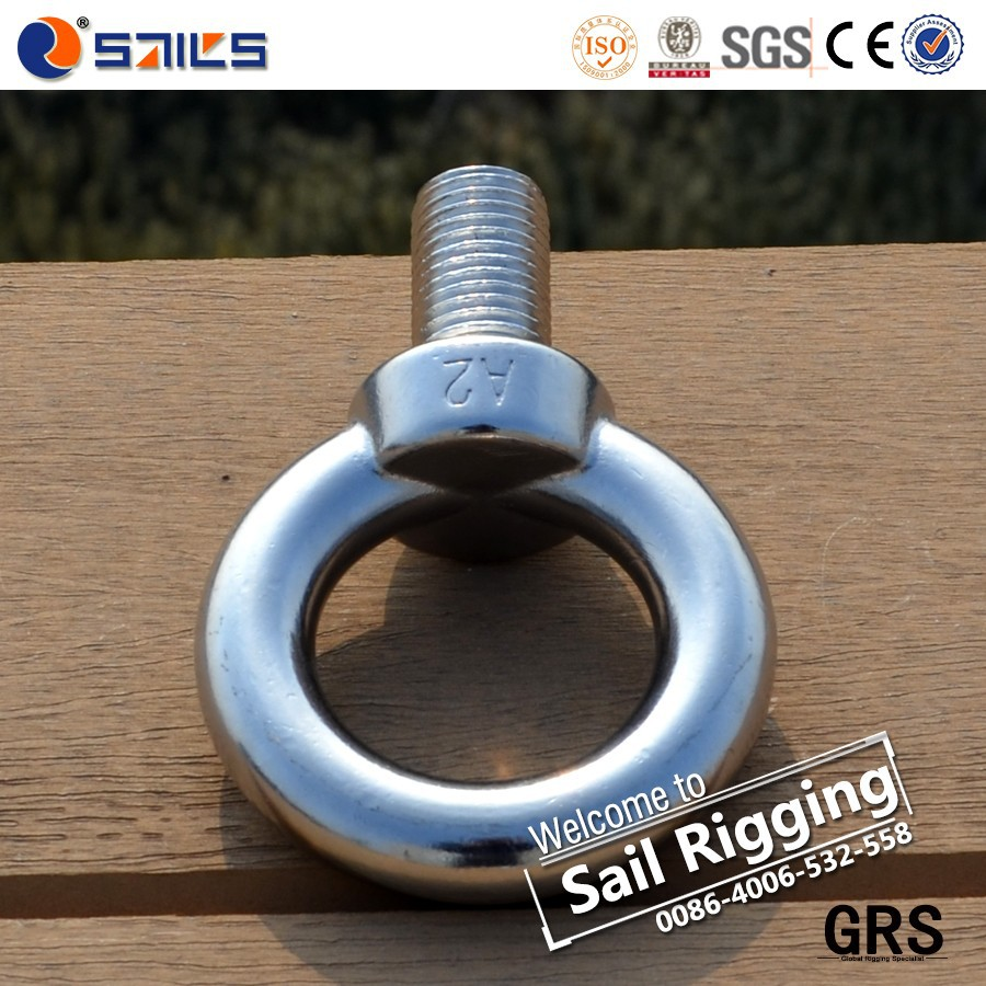 rigging hardware ss304 ss316 lifting stainless steel jis1168 eye bolt