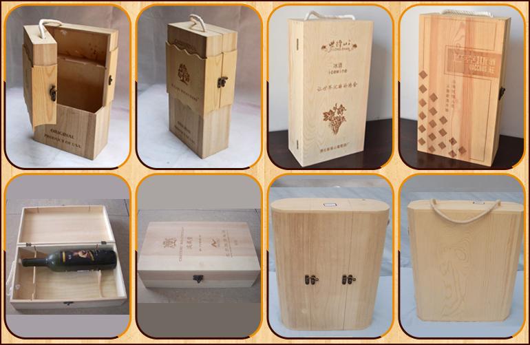 Wedding Gift Box Wine : Wooden Wine Box Classical Design /Wedding Gift Blank Wooden Wine Box ...