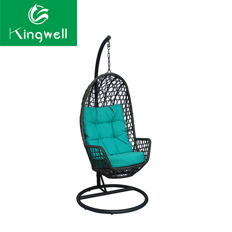 Adult swing rattan hanging egg chair