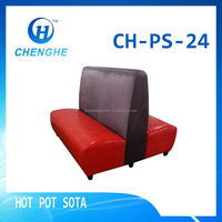 2016 New style Hot pot restaurant sofa OEM-CHENGHE :solid wood+PU+flannel sofa