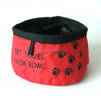 Best quality low price oxford cloth waterproof travel bowl foldable dog food bowl