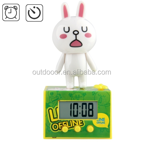 Rabbit Animal Cartoon Alarm Clock , Christmas gifts , promotion gifts