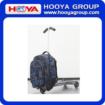 Colorful Pattern Printing fabric folding Luggage Travel Luggage with scotter