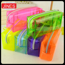 Pencil Pen Case Cosmetic Bag Clear Makeup Pouch Zipper Toiletry Holder