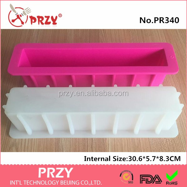 PR340 rectangle silicone soap mold tall and skinny silicone molds soap moulds