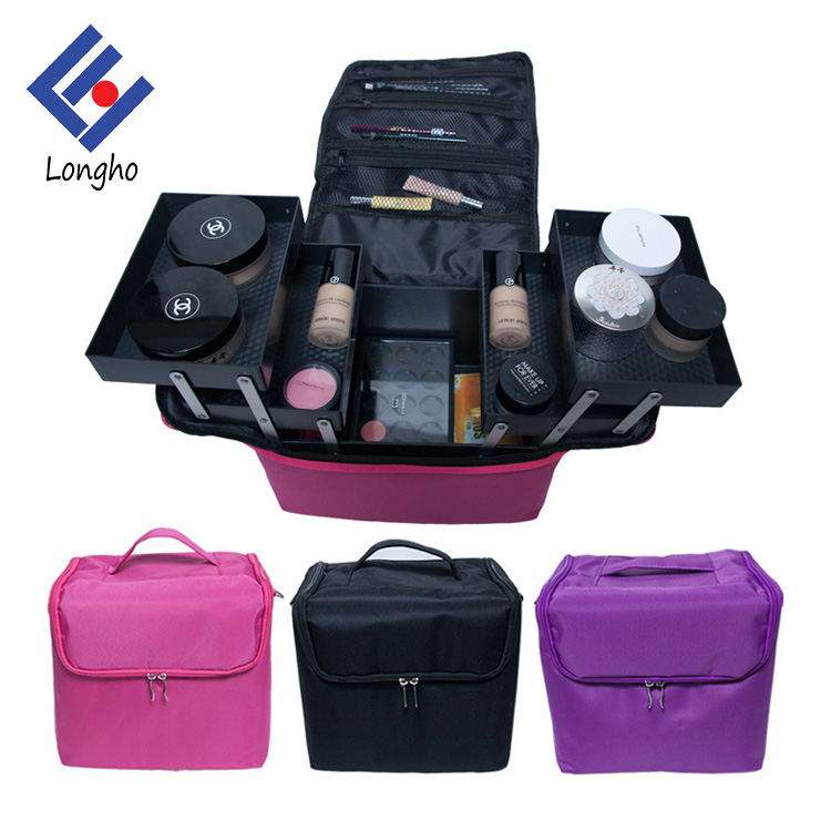 2017 Large capacity multi-layer portable cosmetics beauty case makeup box women professional toiletry bag