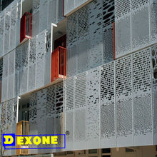 Exterior construction aluminum materials metal laser cutting perforated wall panel /metal decorative fence panel