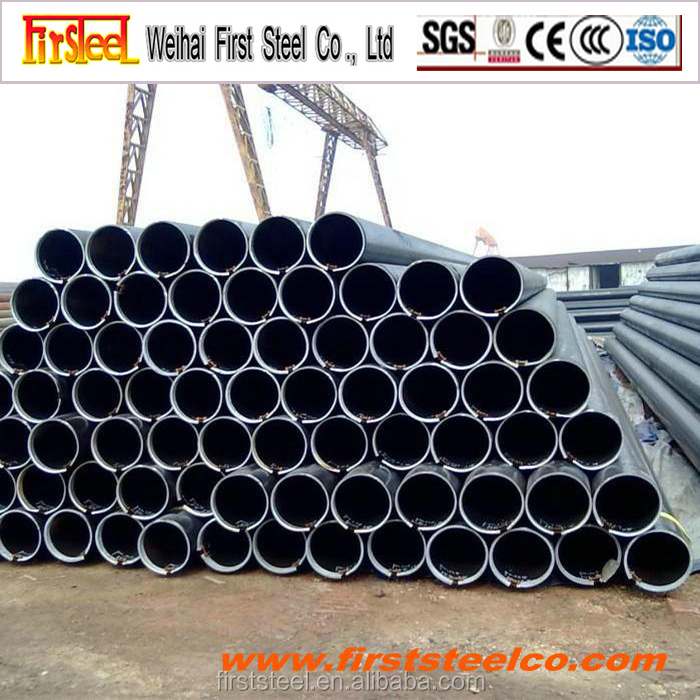 High quality hot rolled black steel pipe dimension