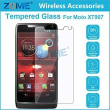 Mobile Phone Accessories 9H+ Explosion-Proof Temered Glass Price For Moto XT 907 Droid Razr M Screen Protector Film