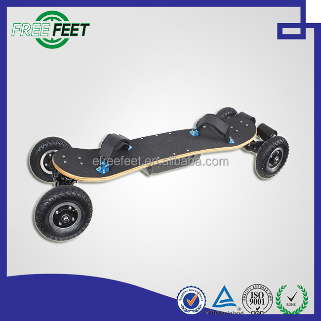 2016 New arrival 4 wheel transporter fat tire electric scooter motorcycle 5ply fiberglass skateboard