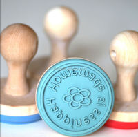 Customized Silicone Cookie Stamp with Wooden Handle