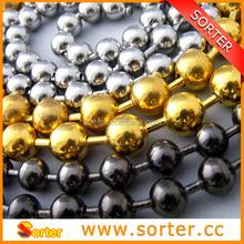 Manufacturer For Nickel Stainless steel Steel Brass Metal Beaded Ball Chain For Wholesale