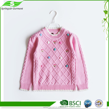 2017 Top Cute Pattern Girl For Winter 4-6Years Kids Sweater Coat