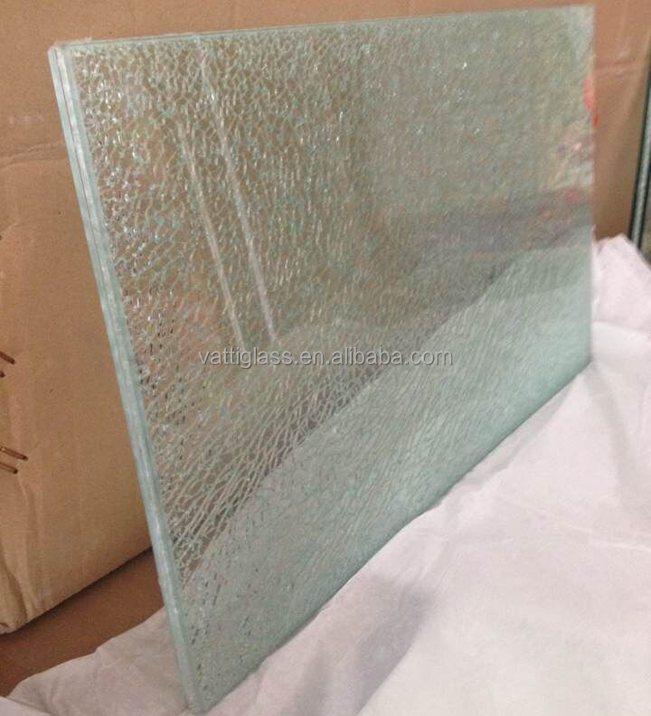 China manufacturer Ice cracked glass for table top
