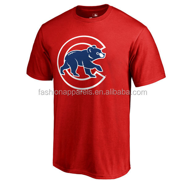 Man Dry Fit Shirts Wholesale Chicago Cubs Printing Design Cheap T shirts
