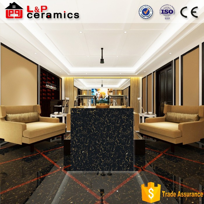 24x24 32x32 super glossy black and white floor tiles