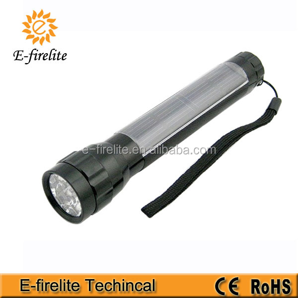 7 LED solar flashlight