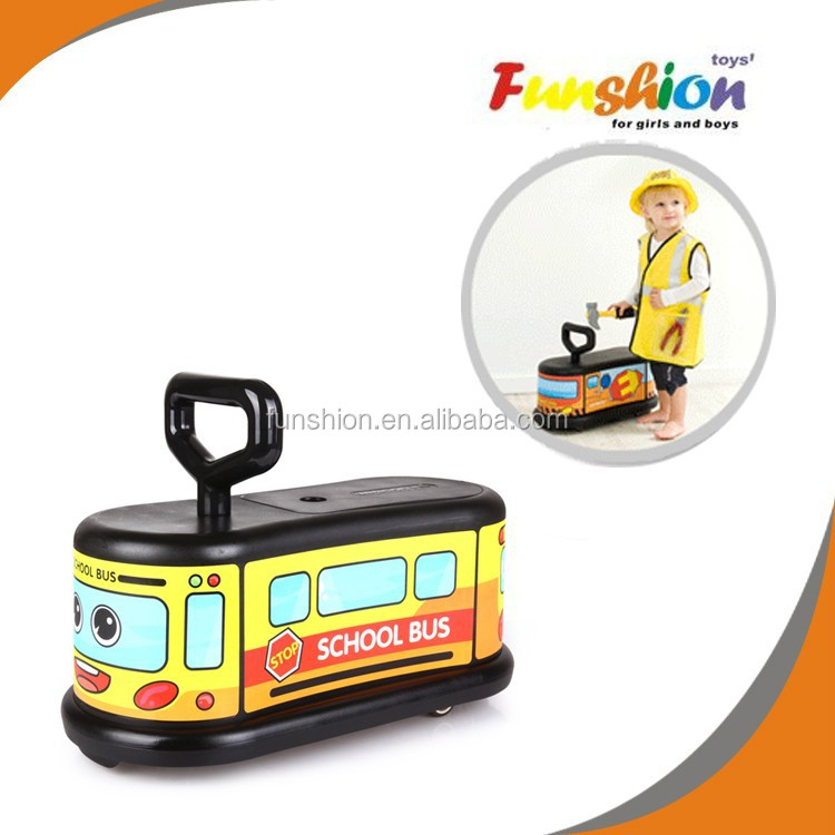 Whole sale plastic ride on car slide,riding roller/wiggle twist car with portable baby car seat