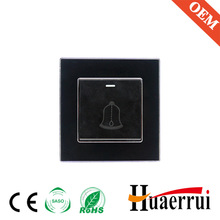 Acrylic panel bell switch for gate