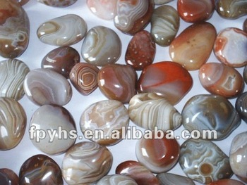 wholesale agate tumbled 8 mm