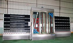 Vertical flat glass washing machine glass washer machine