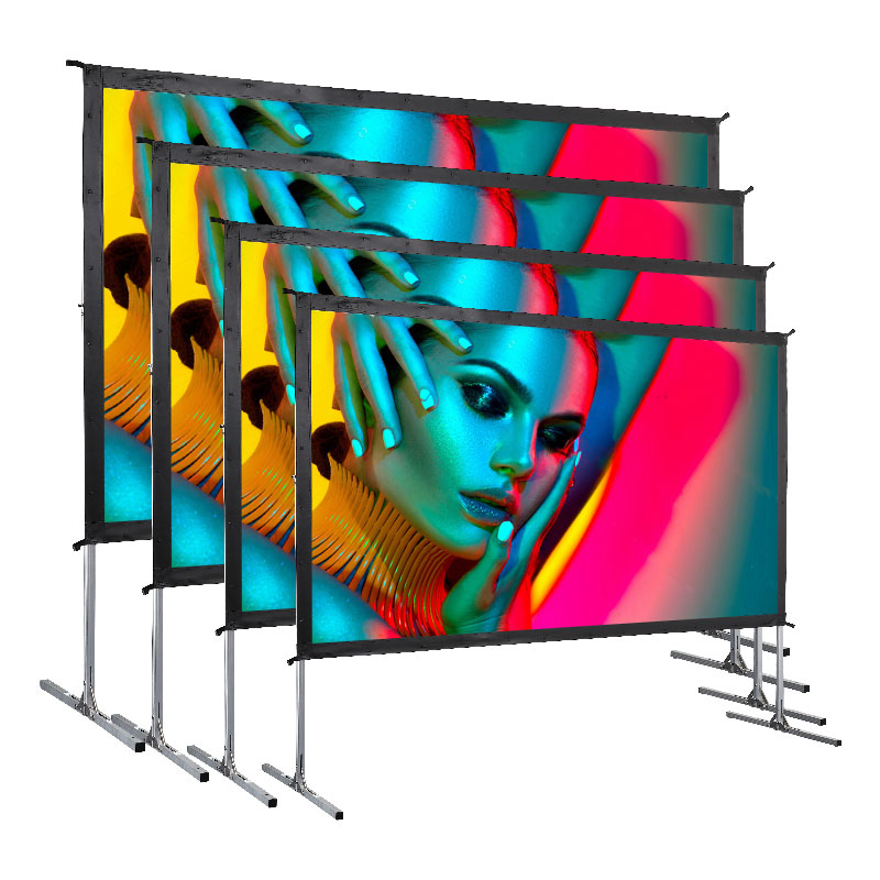 Outdoor movie projection screens inflatable screen hot sale projector <strong>D</strong> Portable Projection Screen with Adjustable Stand Legs