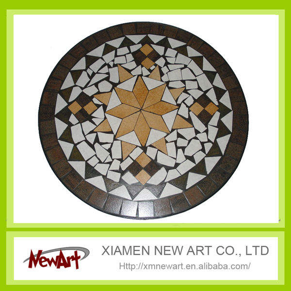 Low price mosaic tile patterns for tables, mosaic furniture