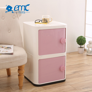 65L two layers kids toy plastic storage cabinet
