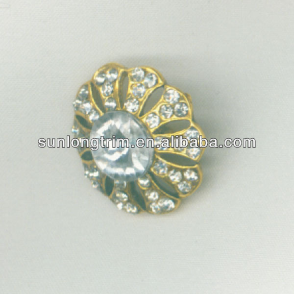 2cm round metal rhinestone button,shank button