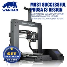 WANHAO 3d printer i3 V2.1 Chinese used label printing machine offset 3d printer cheap price,prototype machine