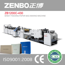 shopping bags ZB1200C-430 Sheet feeding paper bag making machine