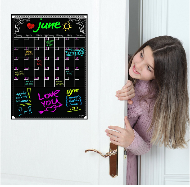 Hot Sale Dry Erase Calendar - Flexible Magnet Board for Refrigerator 12 X 16.5 Inches Vertical Large Magnetic Organizer