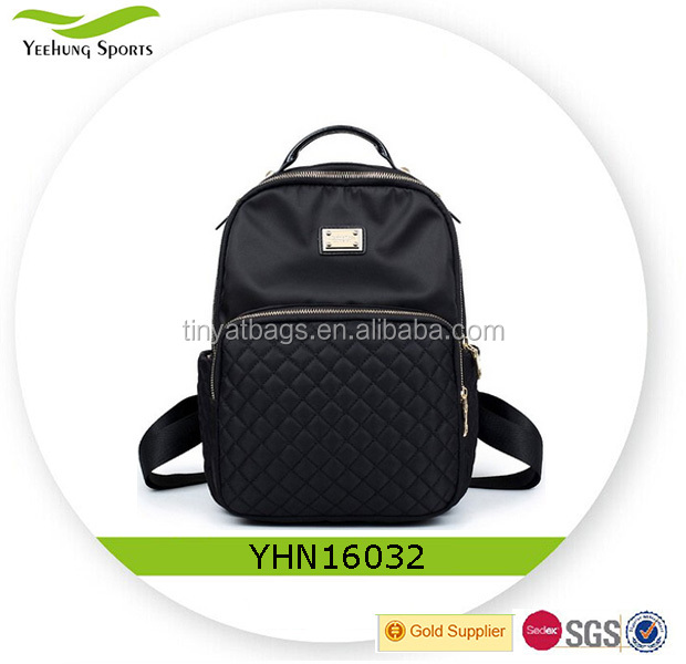 Simple Style Nylon Backpack Schoolbag Daypack for Women & Girls