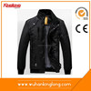 Mens spring autumn breathable outdoor leather motorcycle jacket