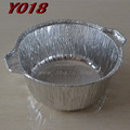 Household Use Round Deep Aluminium Foil Food Pot With Lid Y018