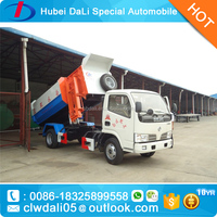 New Design 5 CBM Dongfeng DFAC garbage truck dimensions with bucket for sale