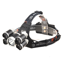 Best camping zoomable headlamp 18000lm XML T6 4LEDs USB rechargeable led headlamp waterproof