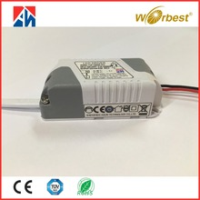 New design ac output 100-240v constant voltage 500mA led driver 6w 12v led power supply for led bulbs
