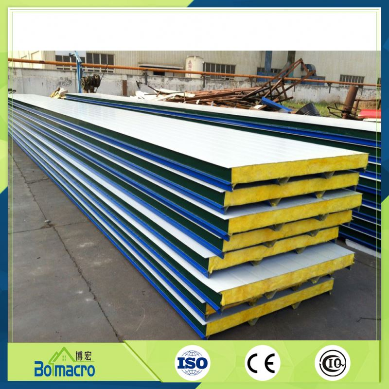 Prefabricated Wood Panel Boards Rock Wool Sandwich Panel House