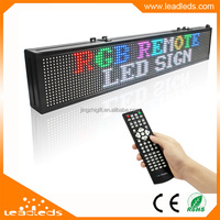Fast Delivery FACTORY PRICE RGB MOVING LETTERS INDOOR LED SIGN BOARD REMOTE CONTROL