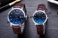 100pcs/lot new arrival SBAO S-A021and S-A022 lovers leather watch with calendar
