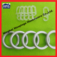 home decoration curtain plastic eyelet rings with curtain plastic hook
