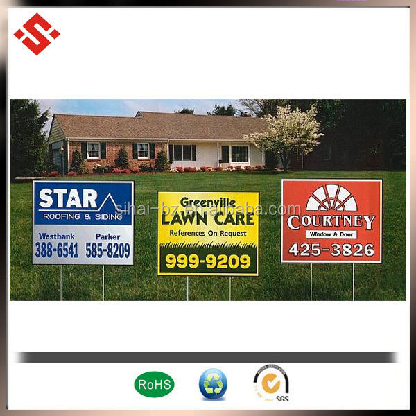 2015 pp corrugated corflute plastic outdoor advertising poster board