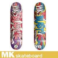 2016 new design 7 ply canadian maple wood skateboard with heat transfer deck