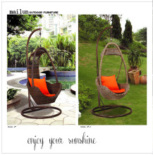 2016 hot sell patio swing chair promotional cushion hanging set
