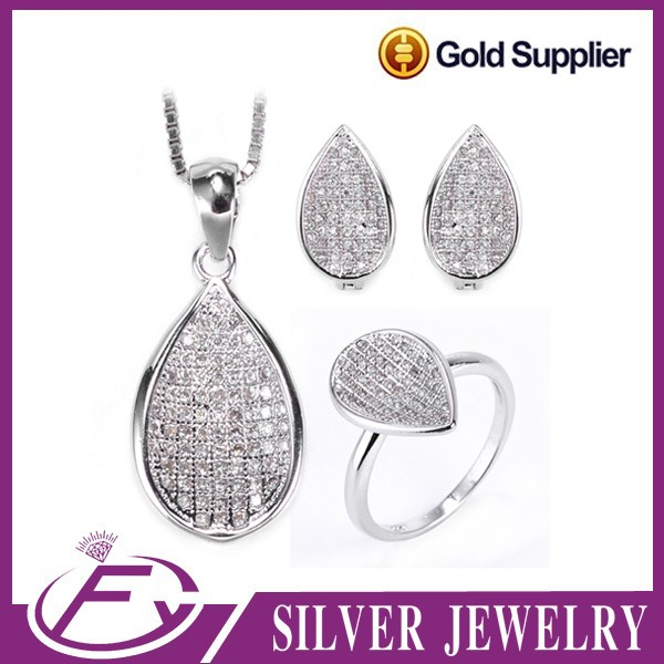 Fast leading time rhodium plated 925 sterling silver jewelry cebu