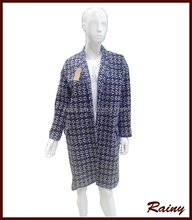 Factory Direct Supply New Fashion Design Oversized Houndstooth Small collar Jacquard woven coat