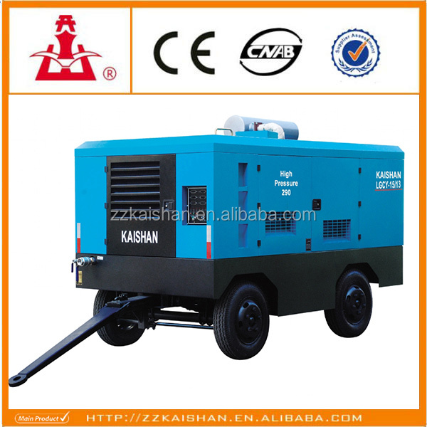 China Kaishan Brand Diesel Portable Screw Air Compressor for Construction for Mining and Quarry